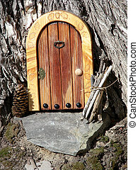 Tree House - Mock up of front door and threshold at the base...