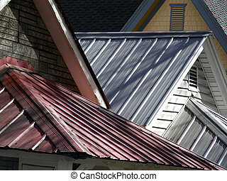 Roof Line - Steel and shingle roofs on Victorian homes