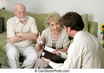 Counseling - You Wont Believe What He Does - A senior couple...