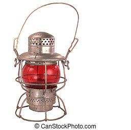 Antique Kerosene Railroad Lantern - Antique kerosene powered...