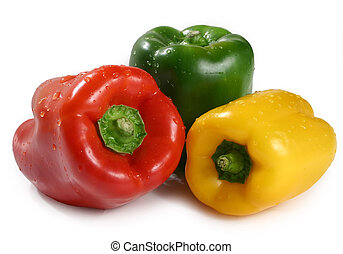 three bell pepper - Three different color bell pepper...