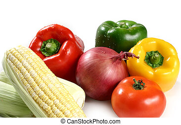 vegetables varitety - variety of vegetables isolated on...