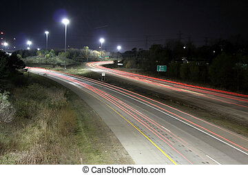 Night Life - street life and freeway roads in night life
