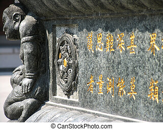 Monument at Jing an Temple; Shanghai, China