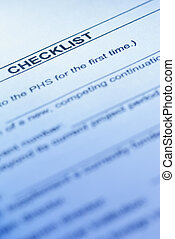 checklist of the Public Health Service