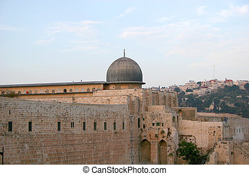 Al-Aqsa Mosque (The Farthest Mosque), the southern...