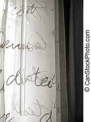 Quirky Curtains - Quirky window curtains with words