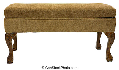 Queen Anne Bench - Queen Anne Style Upholstered Bench in...