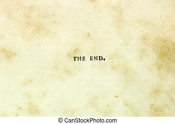 """The End - \\\""""The End\\\"""" set in century-old lead type. Also..."""
