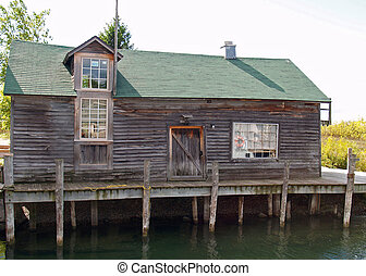 Fishing Shack - Old fish processing plant on Lake Michigan