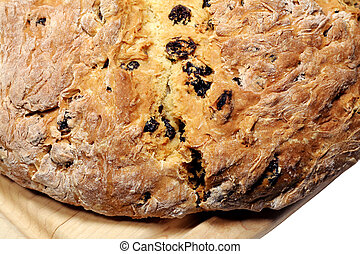 Irish Soda Bread - Homemade loaf of Irish soda bread with...