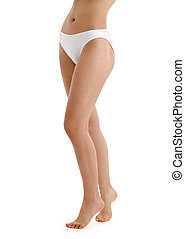 long legs in white bikini panties - classical picture of...