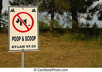 poop and scoop sign