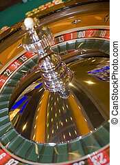 roulette wheel with  motion blur casino hotel