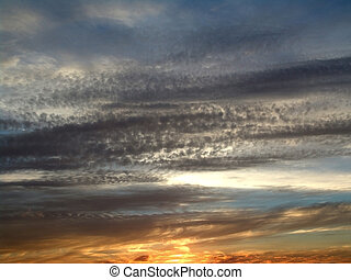 Decline, the sky, clouds, evening, the Moscow area, dusk,...