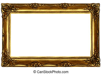 old sculpted golden frame 2 - old sculpted golden frame...