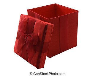 Present - Photo of a gift box isolated on white