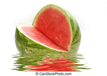 water-melon in water - fresh water-melon in water
