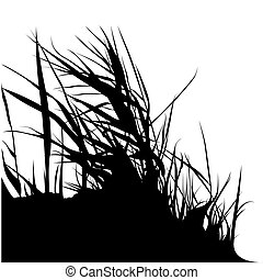 Floral silhouette 06 - High detailed black & white...