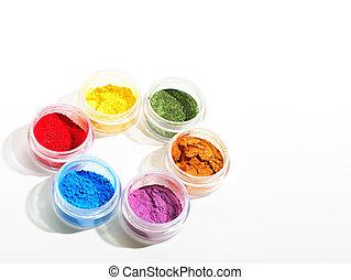 coloridos, cosméticos