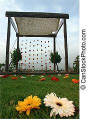 Unique Chuppa - Unique Jewish Chuppa (outdoor at summer)