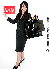 Its Sale Time - Woman with shopping bags - An excited woman...