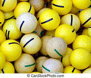 Golf Balls - Photographed golf balls at driving range