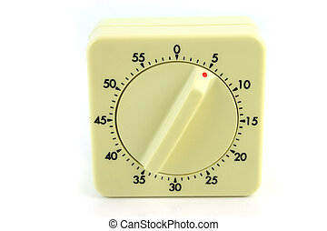 Wind up Timer at 5 Minutes - Close up of a wind up timer...