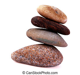 Stones on isolated background