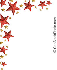 Christmas stars ply - isolated stars - Red and golden...