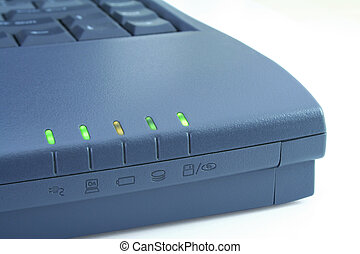 Laptop function indicators - Laptop edge with all function...