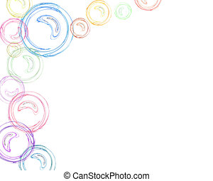 Border - Bubbles - Ultra High Resolution Artwork. Highly...