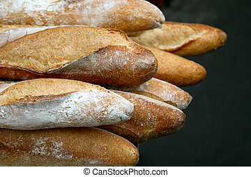 French bread - Fresh baked brown French bread sticks