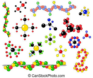 Molecules - Selection of generic molecules and atomic...