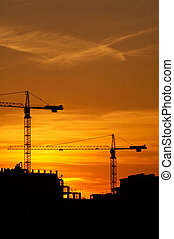 construction_2 - construction of a building, cranes and...
