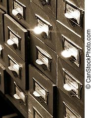 archives_4 - An office drawer in a library with a number of...