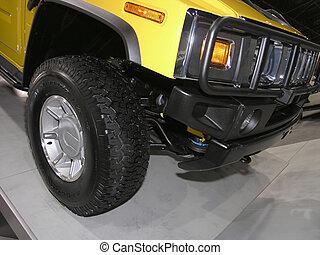 Yellow Heavy Duty SUV