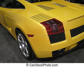 Luxury Sports Car back 1 - Luxury Sports Car Wheel Fender...