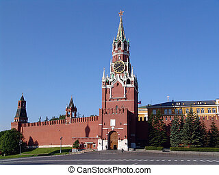 The Moscow Kremlin, tower, the Kremlin, Moscow, Russia,...