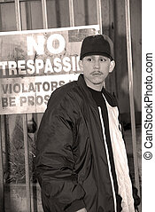 Latino Boy, No Trespassing - Committing A Crime - No...