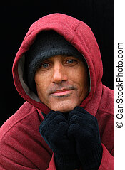 Man in The Red Sweatshirt - A Portrait of Hope - Homeless...