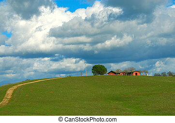 Home, Home on the Range - Farmland in California USA, a...