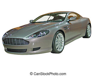 Silver Sports Car Is - This is a silver sports coupe...
