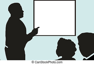 Silhouette Meeting - Taken from an actual photo, this...
