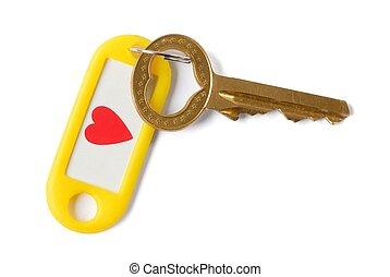 Key to Heart - Isolated key