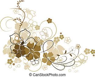 Floral background. Illustration