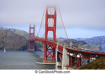 Golden Gate,Ca - baker beach is a state and national public...