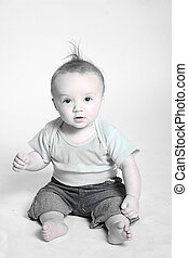 desaturated baby photo