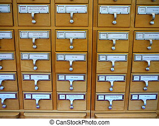 Library Card Catalog - Card Catalog Cabinet in Academic...