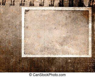 Grunge vintage paper - Vintage paper frame in sepia tone